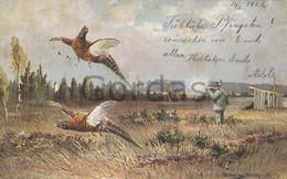 Illustrateur - Hunting - Jagd - Chasse - Pheasant - Ante 1900