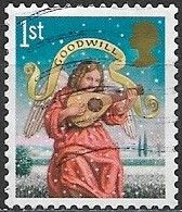 GREAT BRITAIN 2007 Christmas. Angels - (1st) - Angel Playing Lute (GOODWILL) FU - Gebraucht