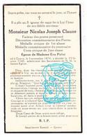 DP Facteur Des Postes - Nicolas J. Clause ° Gouvy 1874 † 1940 X Eva Pirlot - Andachtsbilder
