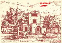 13 Berre L' Etang La Place Illustration La Mairie - Otros Municipios