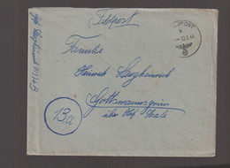 German Feldpost WW2: From Saintes, France - Sicherungs-Regiment 197 (7. Kompanie/III) FP 01376B - WW2