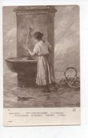 """Mme  C  Chrétien  Colombe     - """"    A  La  Fontaine      """" - Malerei & Gemälde"""