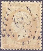 France Napoléon III Empire Franc N°21 Année1862 Oblitéré - 1862 Napoleon III
