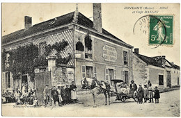 E1 Marne 51 JUVIGNY Hôtel Et Café MANGIN 1915 TBE - Sonstige Gemeinden