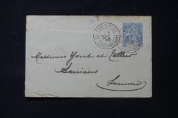 INDOCHINE - Entier Postal Type Groupe De Saigon Pour Yvert Et Tellier à Amiens En 1899 -  L 85743 - Covers & Documents