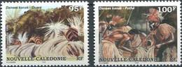 New Caledonia, 1995, Michel 1055-1056, Kanak Dances, 2v, MNH - Danza