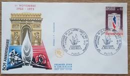FDC 1973 - YT N°1777 - FLAMME SOUS L'ARC DE TRIOMPHE - PARIS - 1970-1979