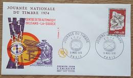 FDC 1974 - YT N°1786 - JOURNEE DU TIMBRE - PARIS - 1970-1979