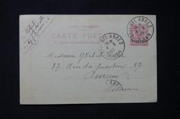 MAROC - Entier Postal  Type Mouchon Surchargé, De Sidi Bel Abbes ( Alg) Pour Yvert Et Tellier à Amiens En 1910 - L 85755 - Covers & Documents