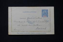 MADAGASCAR - Entier Postal  Type Groupe ( Carte Lettre ) De Tananarive Pour Yvert Et Tellier à Amiens En 1901 - L 85758 - Storia Postale