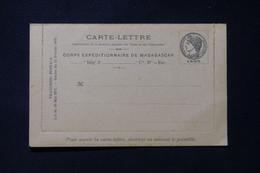 MADAGASCAR - Carte Lettre En Fm Du Corps Expéditionnaire De Madagascar, Non Circulé - L 85761 - Storia Postale