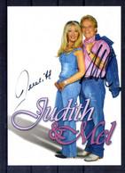 Judith Et Mel. Carte Avec Autographe - Singers & Musicians
