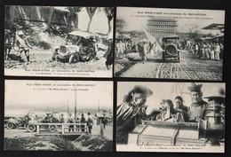PEKIN/ PARIS: Bel Ensemble De 9 Cartes Sur Le Raid Pékin /Paris De 1907 (8neuves, 1 écrite) RARE Et TB - China