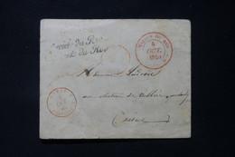 FRANCE - Enveloppe Cachetée De La Maison Du Roi En 1846 Pour Charly Avec Cachet De Franchise En Rouge - L 85769 - 1801-1848: Précurseurs XIX