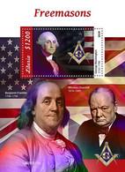 Liberia 2020 Freemasons. Winston Churchill. (515b) OFFICIAL ISSUE - Sir Winston Churchill