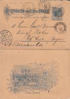 Brésil Entier Postal Illustré Pour L'Allemagne 1904 - Mexico