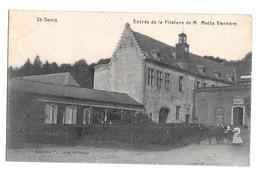 Saint St Denis Entrée De La Filature De M Motte Vanham Animée Edit Ch. Patience 1919 - Mons