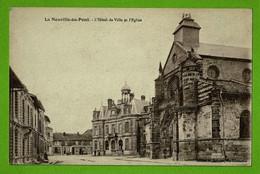 MARNE / LA NEUVILLE AU PONT / HOTEL DE VILLE ET EGLISE ..... Carte Vierge - Sonstige Gemeinden