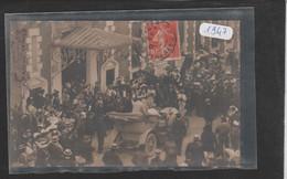 Carte Photo 1947 Arrivée Du Roi D'Espagne  à L'hôtel D'Angleterre - Cauterets