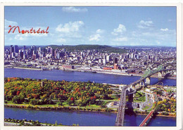 (99). Canada. Montreal Vue Aerienne & Pont Jacques Cartier (2) - Montreal