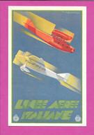 Linee Aeree Italiane / Publicité Ligne Aérienne Italienne / Aviation Avion / ENIT / Di Lazzaro / 1936 - 1919-1938: Interbellum