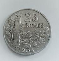 France, Patey, 25 Centimes, 1904, TTB, Nickel (B2 01)F - F. 25 Centimes