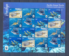PENRHYN SHEET TURTLES WWF MNH - Marine Life