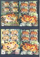 AITUTAKI 4 SHEETS CRABS MNH - Marine Life