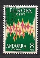 Cept 1972 Andorra Andorre Espagnole Yvertn° 64A (o) Oblitéré Cote 90 Euro - 1972