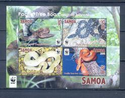SAMOA BLOCK REPTILES WWF MNH - Unclassified