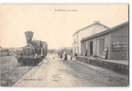 CPA 40 Tartas La Gare Et Le Train Tramway - Tartas
