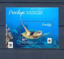 PENRHYN BLOCK TURTLES WWF MNH - Marine Life