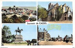 SOUVENIR DE CASSEL (59) CPSM ± 1950  MULTI VUES - ÉDITION MAGE (¬‿¬) ♥ - Cassel