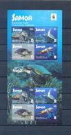 SAMOA  SHEET TURTLES WWF MNH - Marine Life