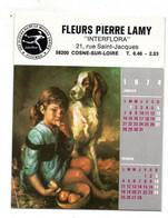 Cosne Sur Loire Calendrier 1974 Fleurs Lamy - Small : 1971-80