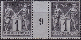 France Sage Type II  N°83 Année 1877 Neuf TB Paire Avec Millésime - 1876-1898 Sage (Type II)