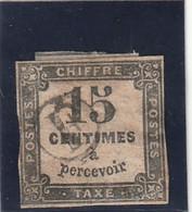 /// FRANCE ///   TAXE  N° 3  Côte 15€ - OBLITERATION E Dans Un Cercle - - 1859-1955 Gebraucht