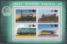 Md_ Großbritannien 1980 - Great Western Railway - Block Postfrisch MNH - Eisenbahnen Railways - Trains