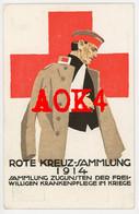 ROTES KREUZ Sammlung 1914 Bayern Freiwillige Krankenpflege Soldat Propaganda - Red Cross