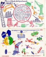 LOT 2 BUVARD ALSA - Roue Alsasticky - Constructions MECANO - Süssigkeiten & Kuchen