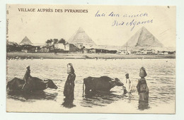 EGITTO - VILLAGES AUPRES DES PYRAMIDES - VIAGGIATA  FP - Piramiden