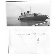PAQUEBOT NORMANDIE  à PLYMOUTH- Juin 1935( Voyage Inaugural ) - Barcos