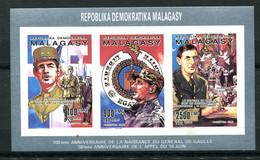 Thème Général De Gaulle - Madagascar - Yvert BF 987 à 989 - Neuf Xxx Non Dentelé - Lot 317 - De Gaulle (General)