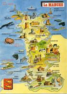 CPM Géographique - 50 LA MANCHE. Moules, Huîtres, Blason - TBE - Maps