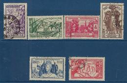 """Indochine YT 193 à 198 """" Exposition Internationale Paris """" 1938 Oblitéré - Used Stamps"""