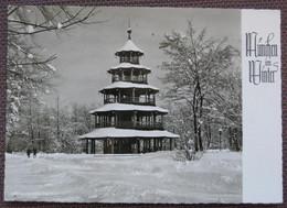 München Im Winter - Englischer Garten: Chinesischer Turm Im Schnee - Muenchen
