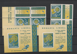 EUROPA  GOUVERNEMENT ROUMAIN EN EXIL CONTRE LE COMMUNISME  COTE DALLAY 380 EUROS  MNH** - 1964