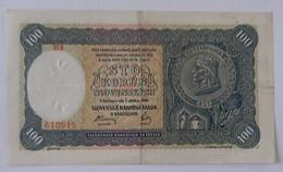 100 KORUN SLOVAQUE  7 OCTOBRE 1940 - Slovakia