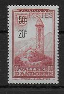 ANDORRE - 1935 - YVERT N°46 * MLH - COTE = 22 EUROS - - Unused Stamps