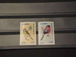 ANDORRA FR. - 1974 UCCELLI 2 VALORI - NUOVO(++) - Unused Stamps